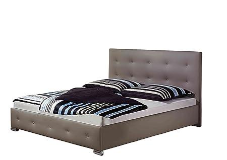 Maintal Betten 233277-4130 Polsterbett Jona 160 x 200 cm, Kunstleder taupe