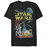 Star Wars Men's Rebel Classic Graphic T-Shirt, Black, XXL (Color: Black, Tamaño: XX-Large)