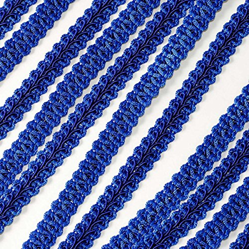 Adorox Braided Gimp Trim Ribbon Party Event Wedding Birthday Decoration (Royal Blue (1 Roll))