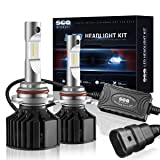 SEALIGHT 9005/HB3 LED Headlight Conversion Kit (DOT Approved) -X2 Series 50W 8000LM High beam- 16x CSP LED Chips - Cool White 6000K -2 Yr Warranty