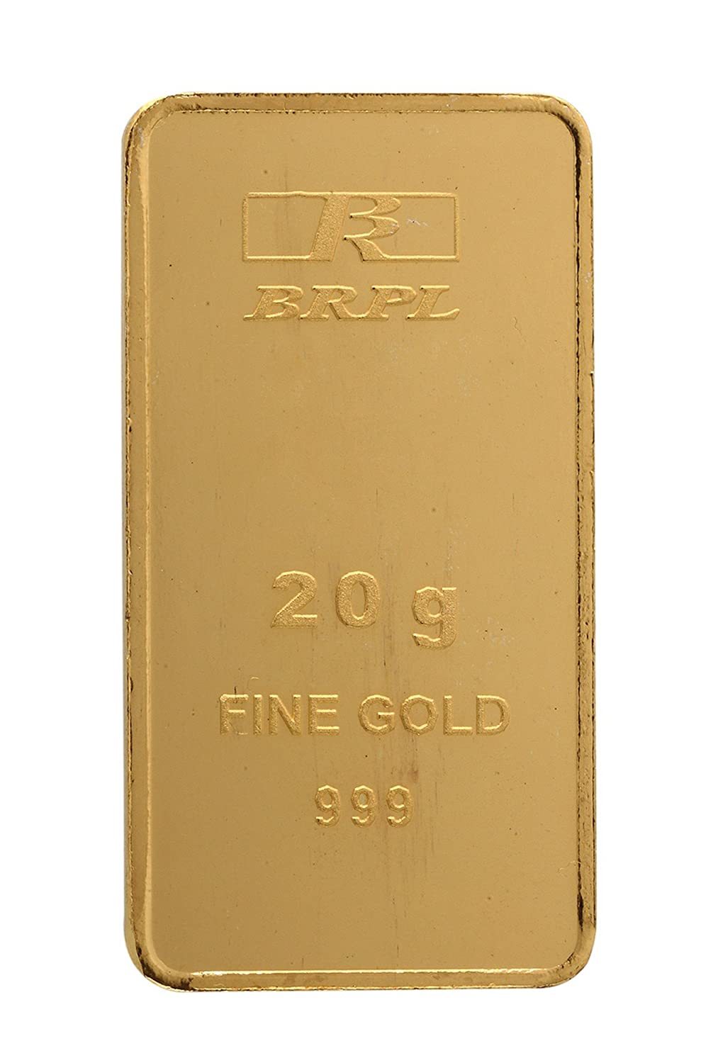 20 gm, 24k (999) Yellow Gold Bar