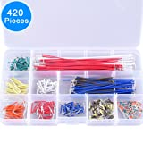 EAONE 420 Pieces Preformed Breadboard Jumper Wire Kit, 14 Lengths Assorted Jumper Wire with Free Box