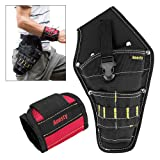 Anesty Magnetic Wristband and Cordless Drill Holster Kits for Holding Screws, Nails, Bolts, Drilling Bits