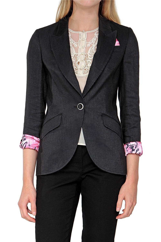 Basler Damen Blazer PINK ZEBRA WB, Farbe: Dunkelblau günstig online kaufen