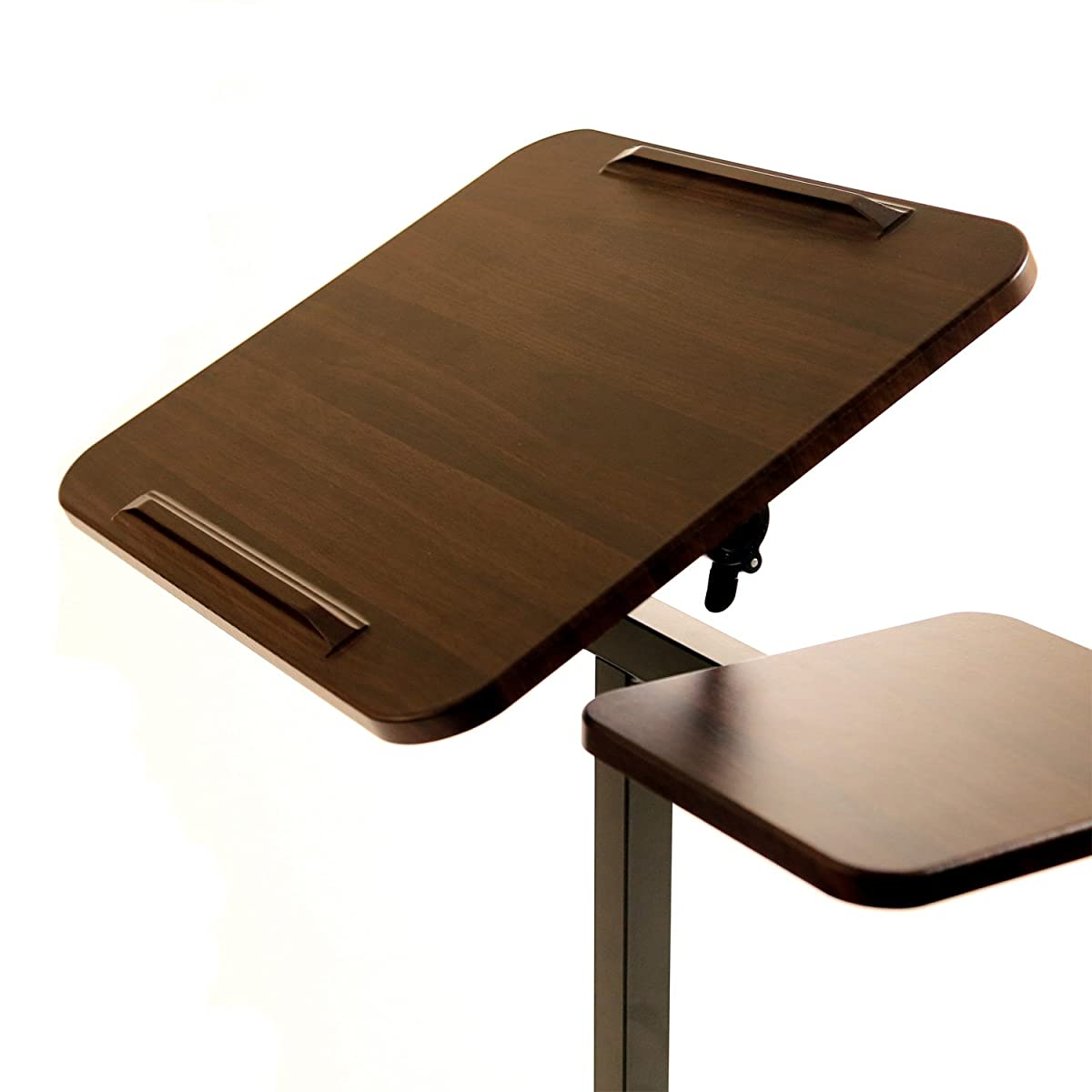 Seville Classics Sit-Stand Desk Cart with Side Table