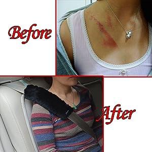 A Must Have a Zento Deals Soft Faux Sheepskin Seat Belt Shoulder Pad Two Packs