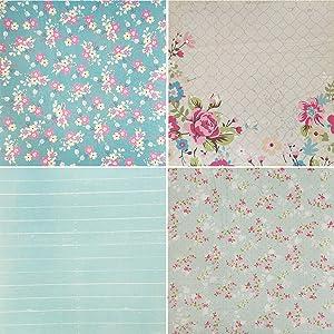 levylisa 8x8 Cardstock Paper Pad Designer Paper Pad Floral Scrapbook Paper Decorative Craft Paper (40 Sheets) (005) (Tamaño: 005)