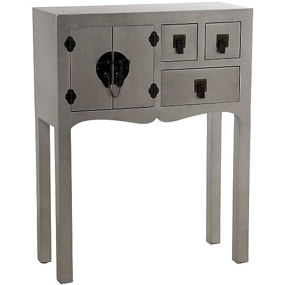 Ibergada - Tavolino Kentucky, colore: Argento