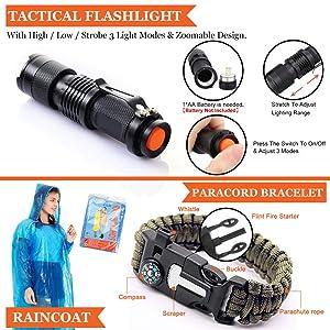 Monoki First Aid Survival Kit, 302Pcs Tactical Molle EMT