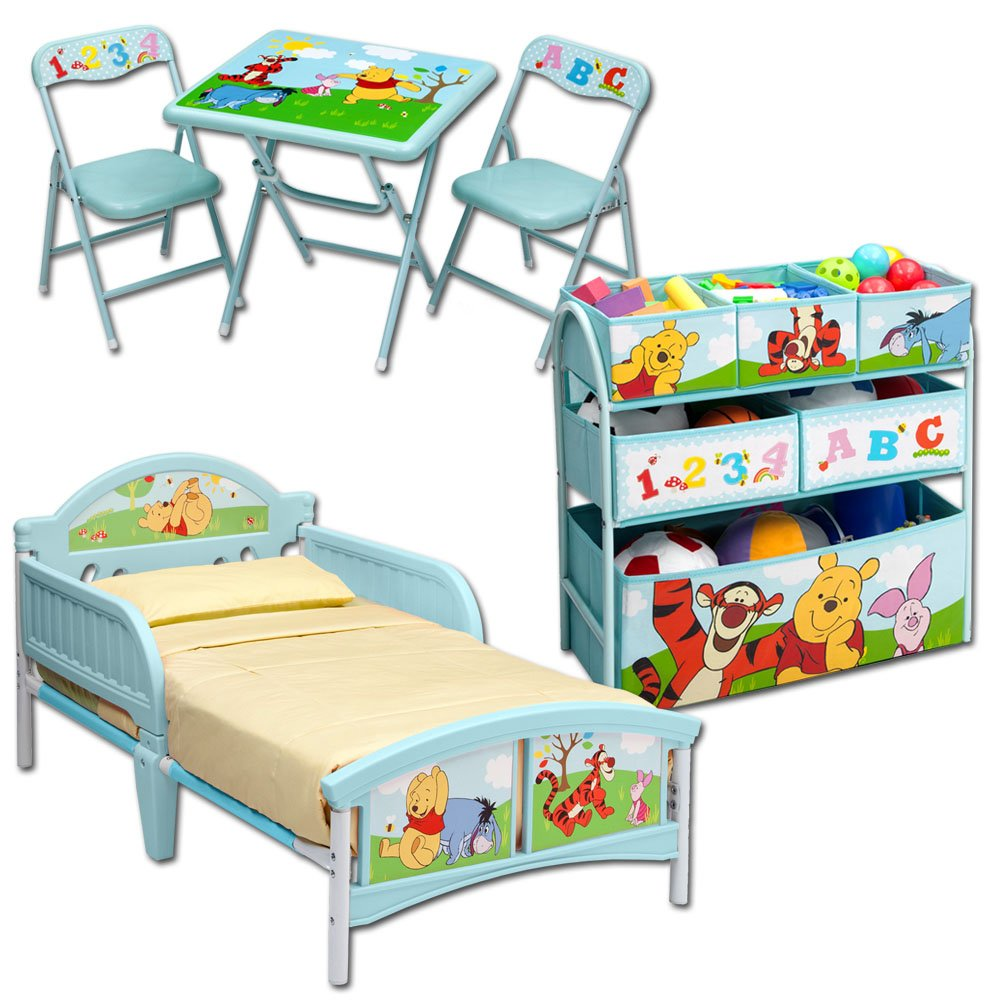 Room in a Box mit Modellauswahl – Kindermöbel – Möbel – Kinderbett – Bett – Tisch – Stühle – Kindertisch – Kinderstühle (Winnie Puuh) günstig bestellen