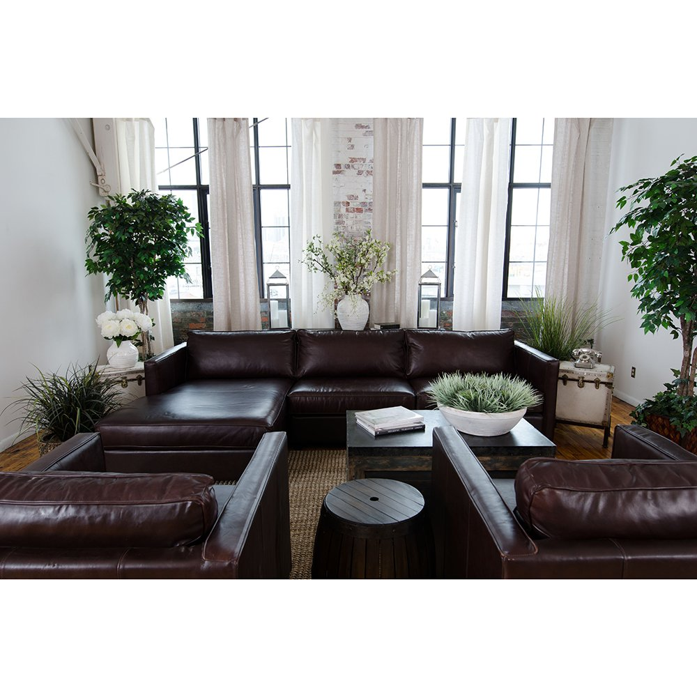 4-Pc Upholstered Sectional Set in Cappuccino