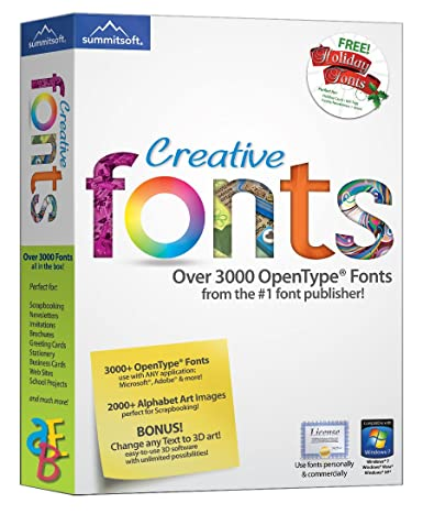 Creative Fonts Book Cover