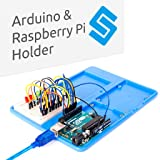 Arduino Raspberry Pi Holder Breadboard - SunFounder RAB 5 in 1 Base Plate Case for Arduino Uno R3 Mega 2560, Raspberry Pi 3 Model B, 2 Model B and 1 Model B+ 400 800 Points Breadboard Circuit Board