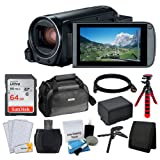 Canon VIXIA HF R80 Camcorder + Canon SC-A80 Soft Case + Sandisk 64GB Memory Card + Extra BP-727 Battery Pack + Flexible, Wrapable Tripod + USB Card Reader + Screen Protectors - Valued Accessory Bundle