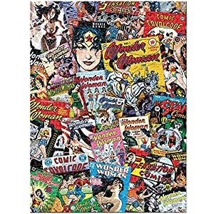 Comis Vinyl Flooring Safe : Amazon.com : DC Comics Wonder Woman Cover Art Collage Superhero Jigsaw