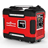 Rockpals 2000-Watt Portable Inverter Generator, Super Quiet Gasoline Digital Power Generator, CARB Compliant With Eco-Mode, Parallel Ready, Dual 120V AC Outlet, 2 USB Ports, 12V DC Output (Color: 2KW inverter Generator, Tamaño: 2000W Inverter Generator)