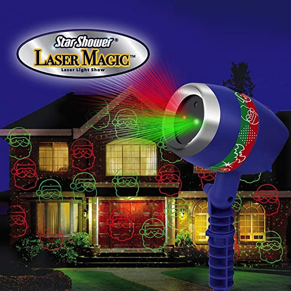 Laser Magic Light Show (Color: green and red, Tamaño: 2 Pack)