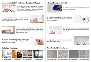 Yenhome Silver Brush Wallpaper 24 x 196 Stainless Steel Peel and Stick Wallpaper for Appliances Fridge Dishwasher Removable Self Adhesive Vinyl Film for Cabinets Cover Drawer and Shelf Liner (Color: Silver, Tamaño: 24 x 196 inch)