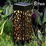 BEAU JARDIN Solar Lights Outdoor Garden Powered Path Lighting Solar Glow Led Pathway Lights Front Gate Bright Solar Landscape Lights Black Waterproof Sidewalk Lamp for Patio Walkway 8 Pack (Color: Black 8pack, Tamaño: 8pack)