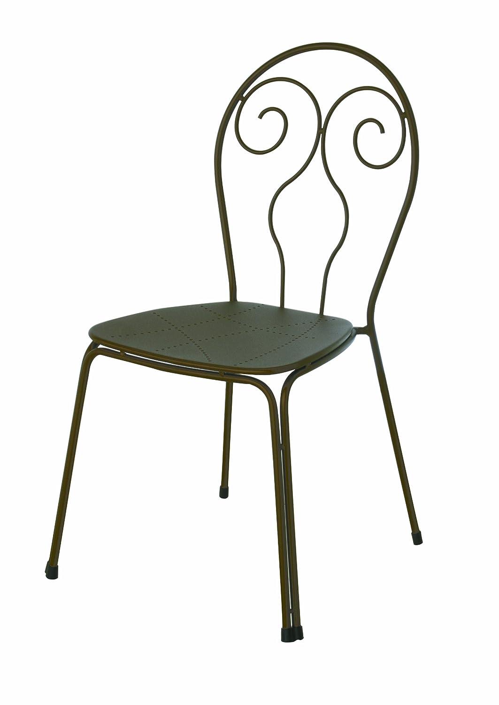 Emu 309302200 Caprera Stuhl 930, pulverbeschichteter Stahl, 4-er Set, antik eisen jetzt bestellen