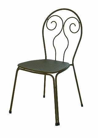 Emu 309302200 Caprera Stuhl 930, pulverbeschichteter Stahl, 4-er Set, antik eisen