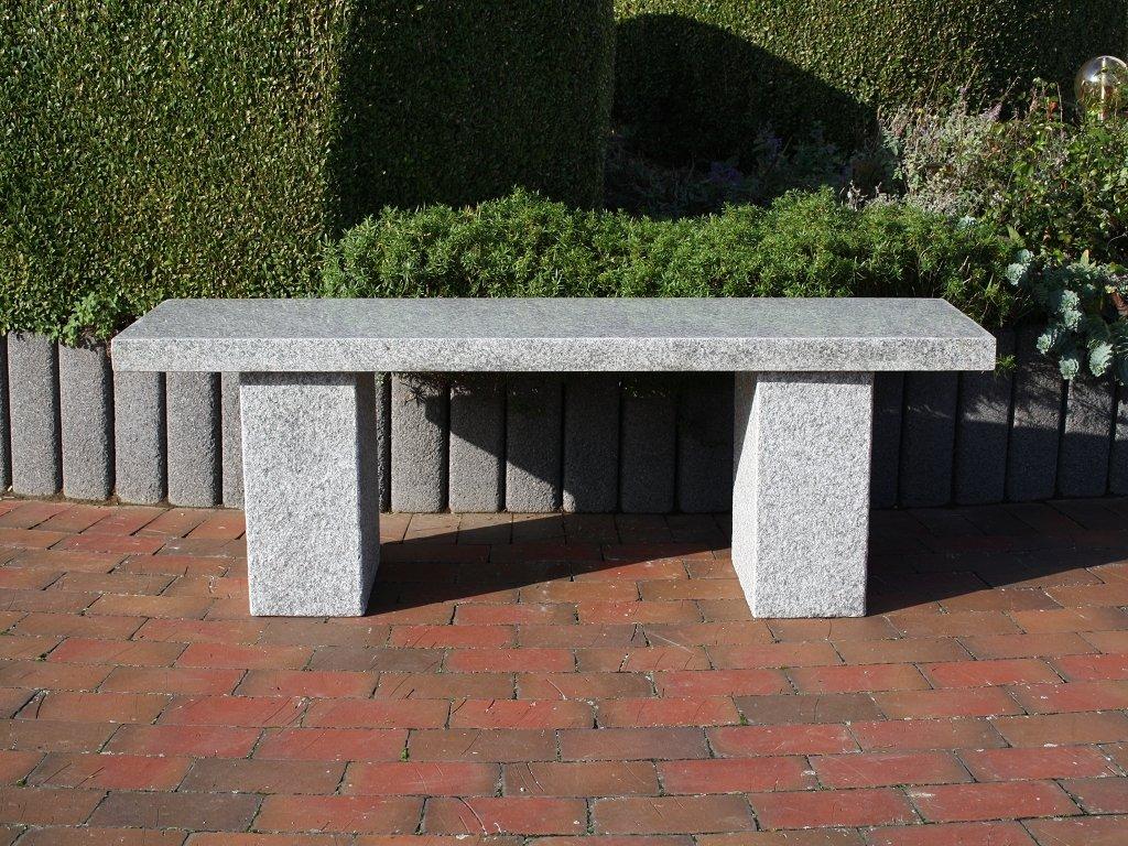 Natursteinbank Gartenbank Steinbank Granit Sitzbank Granitbank Gartenmöbel Rhodos jetzt bestellen