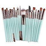 Cinidy 20 pcs Makeup Brush Set tools Make-up Toiletry Kit Wool Make Up Brush Set(Coffee) (Color: Coffee#)