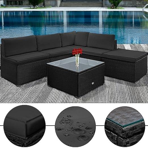 Poly Rattan Lounge Set Anthrazit Schwarz XXL ✔ 20cm dicke Ruckenkissen ✔ Einzelelemente flexibel kombinierbar ✔ UV-beständiges Polyrattan ✔ Sitzgarnitur Couch Sitzgruppe ✔ Modellauswahl