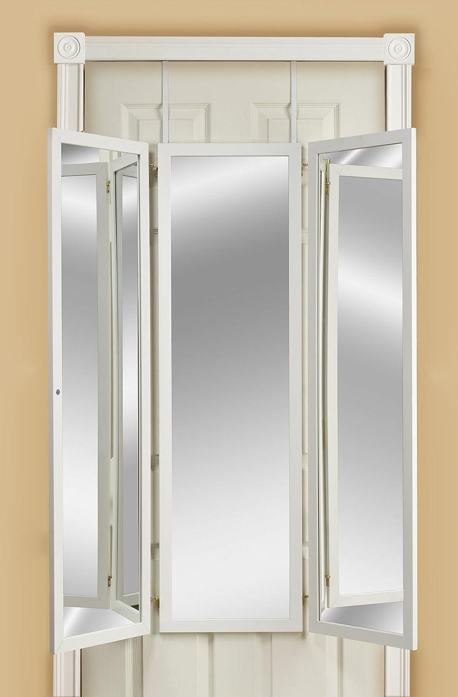 Over the door mirror behind door mirrors for Bathroom 3 way mirror