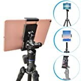 Tripod Tablet Mount with Adjustable Angles [2 in 1] for iPad Pro/Air/Mini, 7-11 inch Android Tablet, iPhone & Cell Phone - APPS2Car Universal Tablet Mount Tripod Holder Adapter Stand for iPad/iPhone (Color: Tripod Mount)