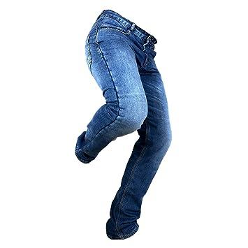 Overlap OVP-MANX-SMALT28 Jeans de Moto Manx Smalt Bleu Taille 28