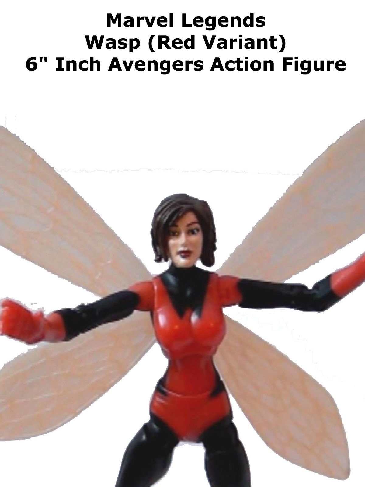 "Review: Marvel Legends Wasp (Red Variant) 6"" Inch Avengers Action Figure"