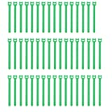 Pasow 50pcs Reusable Fastening Adjustable Cable Ties Wire Management (7 Inch, Green) (Color: Green, Tamaño: 7 Inch)