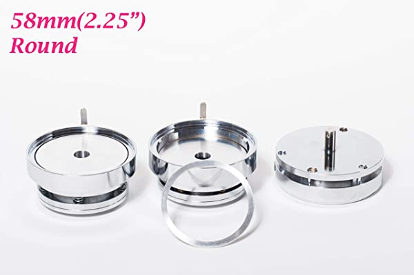 ChiButtons Round 58mm (2.25) Interchangeable Die Mould for Badge Button Maker S1, B400(with Free Parts) Metric System