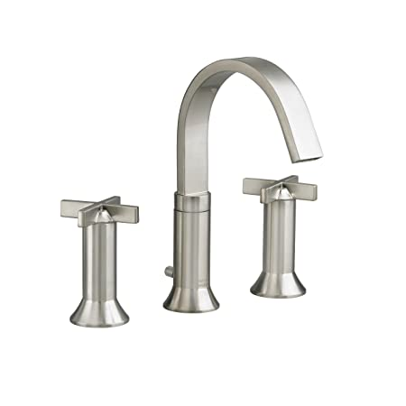 American Standard 7430.821.295 Berwick 2 Cross Handle Widespread Faucet, Satin Nickel