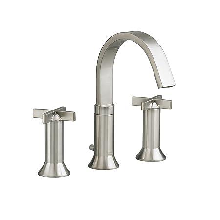 American Standard 7430.821.295 Berwick 2 Cross Handle Widespread Faucet, Satin Nickel