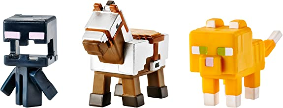 Minecraft Mini Figure 3-Pack Armored Horse Screaming Enderman amp Tabby Cat