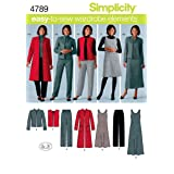 Simplicity Easy-to-Sew 4789 Plus Size Pants, Vest, Jacket and Jumper Sewing Pattern for Women by In K Design, Sizes BB (20W -28W) (Tamaño: BB (20W-22W-24W-26W-28W))
