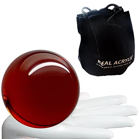 Real Acrylic Contact Ball Transparent Red 90mm 520g and protective case