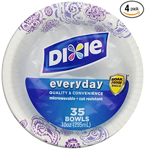 Dixie Heavy Duty Paper Bowls, 35 Count (Pack of 4)