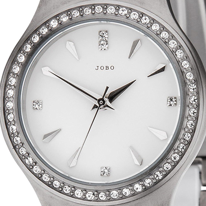 Damen-Armbanduhr Quarz Analog Titan mit Keramik und Kristall-Elements als Weihnachtsgeschenk kaufen
