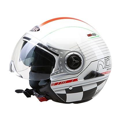 Viper RSV18 Italie drapeau moto casque ouvert