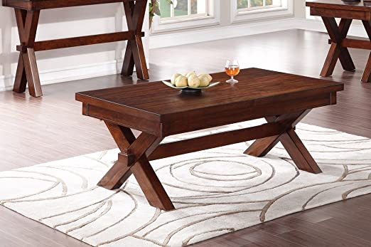 Traditional Style Coffee Table (Cherry) by Poundex