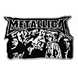 Big patch Large Music M American Metal Band Music Logo Patch Embroidered Sew Iron On Patches Badge Bags Hat Jeans Shoes T-Shirt Applique (Tamaño: 24x15 CM)