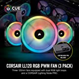 Corsair LL120 RGB -White- Triple Pack PCケースファン 12cm FN1280 CO-9050092-WW