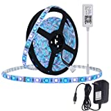 Smart RGBW LED Strip Lights Kit,5m 300LEDs RGB + White Bluetooth Phone Controlled Waterproof Rope Lighting Sync to Music LED Ribbon Tape with self Adhesive Flexible Strips for Home Lighting (Color: Rgbw, Tamaño: 5m Strip(IP68)+Power Supply+Bluetooth Controller)
