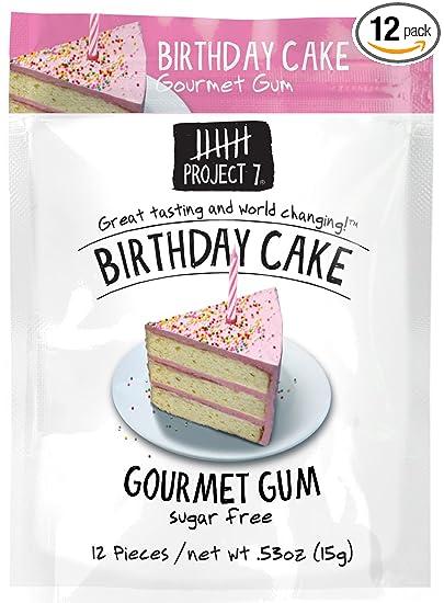 Project 7 Birthday Cake Gum Free Gum Birthday Cake