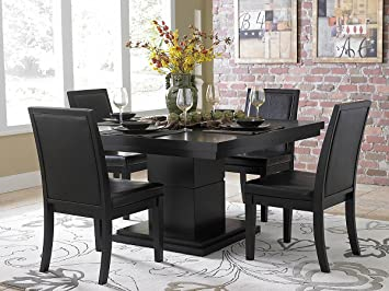 Cicero 5 Piece Dining Table Set by Home Elegance in Black