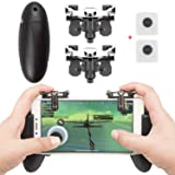 EAONE Mobile Game Controller 2 in 1 Gamepad L1R1 Sensitive Shoot and Aim Fire Trigger with 2Pcs Joysticks Controllers for PUBG/Rules of Survival/Knive