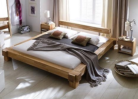 SAM® Massivholzbett in Kernbuche geölt 140x200 cm Victoria Buche Holz massiv pflegeleicht robust naturlich Bett